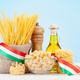 Various types of Italian pasta and olive oil - PhotoDune Item for Sale