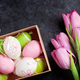 Pink tulip flowers and easter eggs - PhotoDune Item for Sale