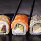 Sushi Rolls and Chopsticks. - PhotoDune Item for Sale