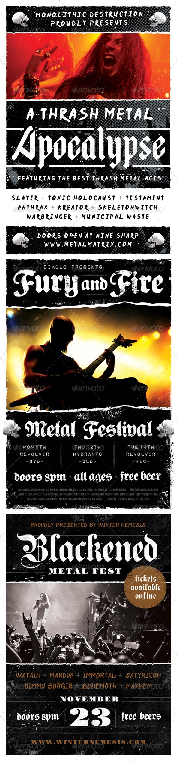 Heavy Metal Flyer Bundle - Volume One - Concerts Events