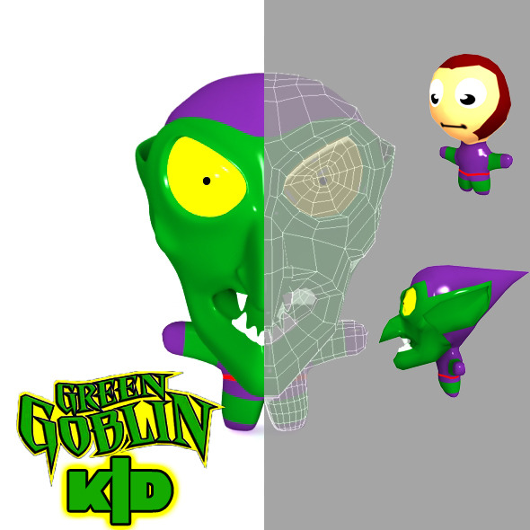 Green Goblin Kid Model - 3DOcean Item for Sale