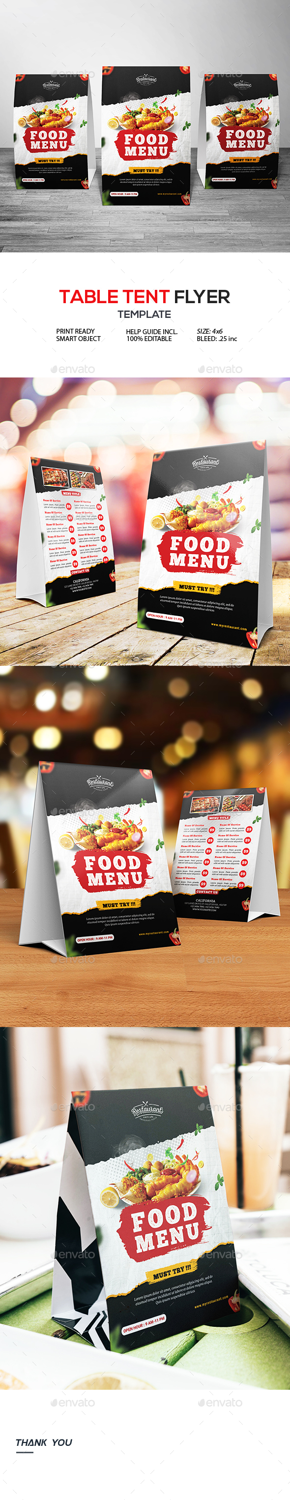 Restaurant Table Tent Flyer