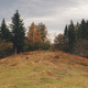 Autumn landscape at mountain forest aerial. Environment at mount nature beauty. Pine fir, leafy tree - PhotoDune Item for Sale