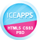 IceApps Landing Page HTML & PSD Nulled
