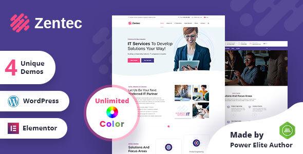 Zentec - IT Solutions Company WordPress Theme