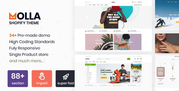 Molla - Multipurpose Responsive Shopify Theme - RTL support