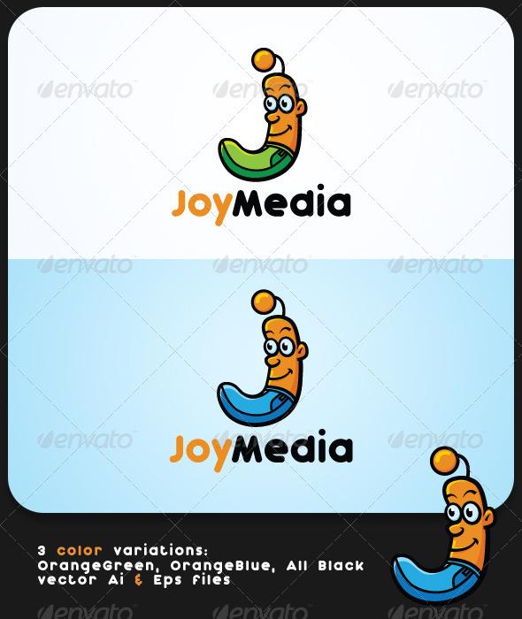 Joy Media J Mascot Letter Logo Template - Letters Logo Templates