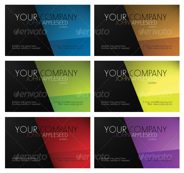 Business card 6 color variety by prodesign graphicriver business card 6 color variety corporate business cards colourmoves