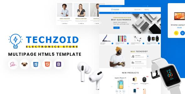 Techzoid – Electronics Store HTML5 Template