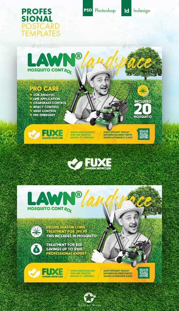 Garden Landspace Postcard Templates