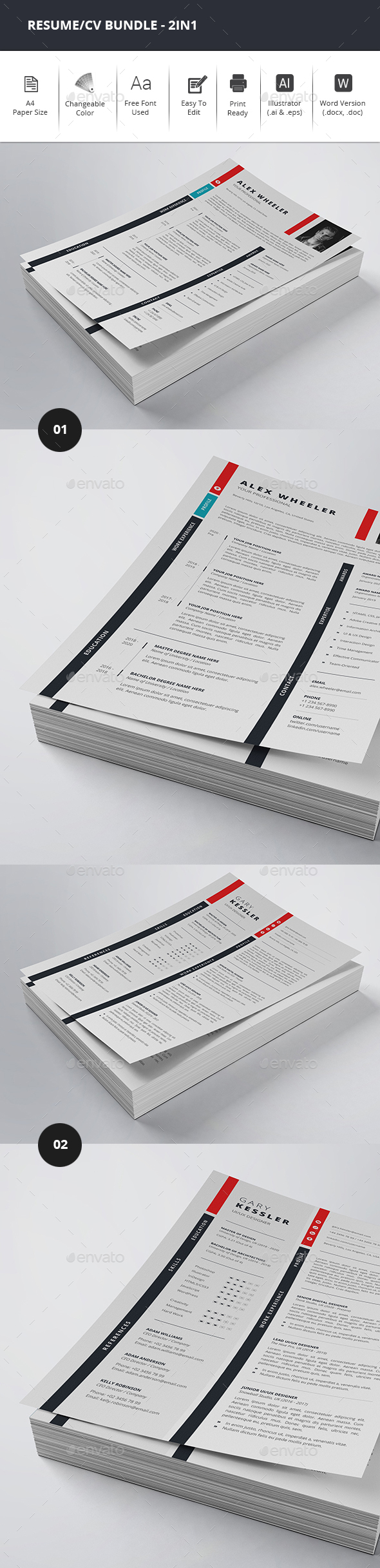 Resume/CV Bundle - 2in1