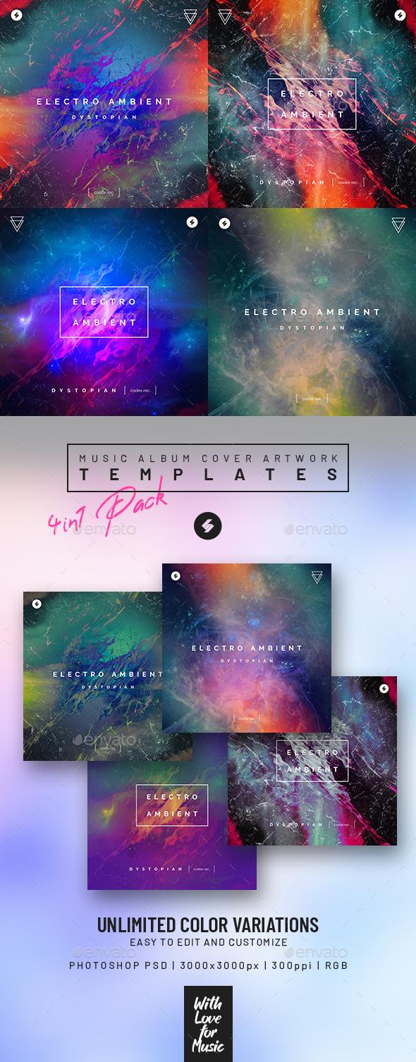 Electro Ambient vol.2 – Music Album Cover Art Templates Pack