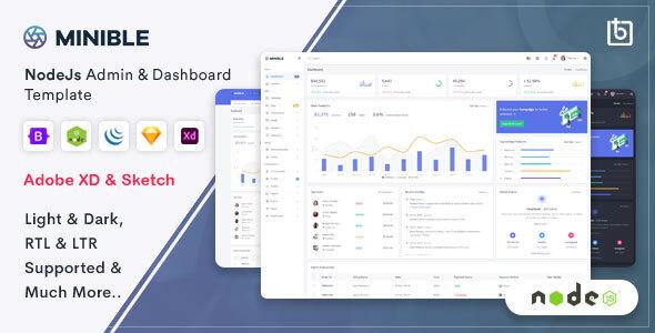 Minible – Node.js Admin & Dashboard Template