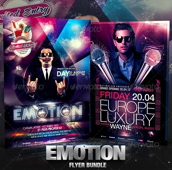 Emotion Flyer Bundle  - Clubs & Parties Events
