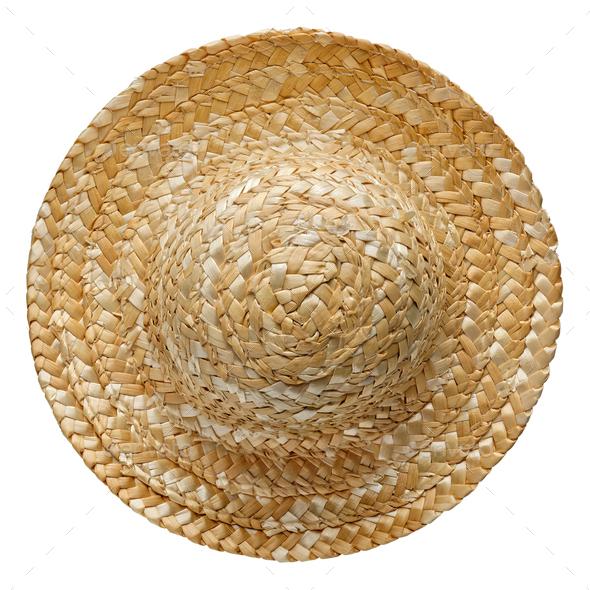 Round straw hat - Stock Photo - Images