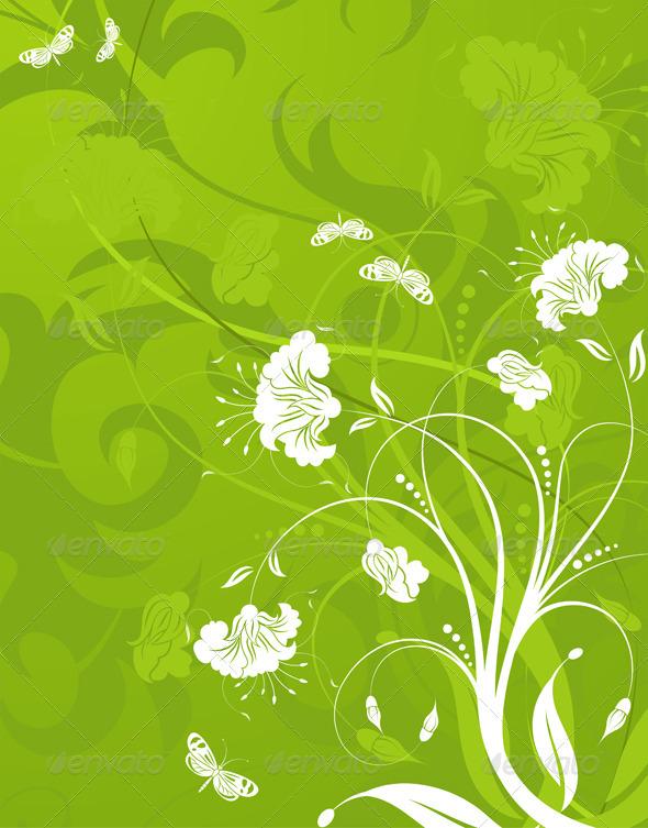Floral background - Flourishes / Swirls Decorative