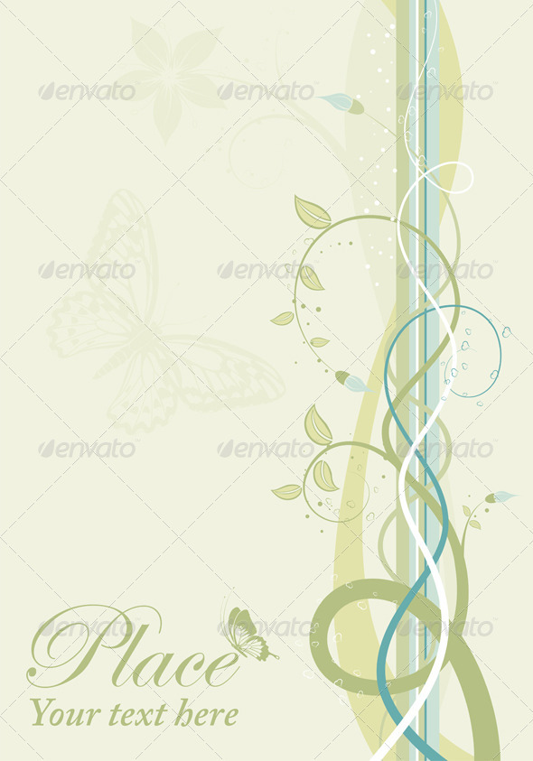 Spring background - Flourishes / Swirls Decorative