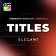Titles Elegant Cinematic 2 - VideoHive Item for Sale