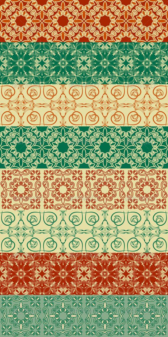 8 Seamless Floral Patterns - Patterns Decorative