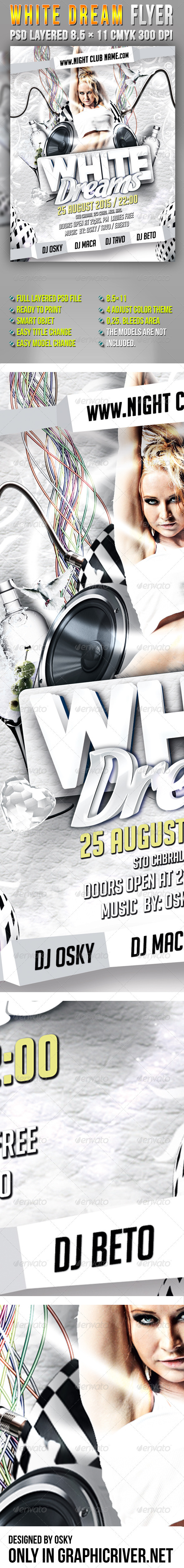 White Dream Flyer - Events Flyers