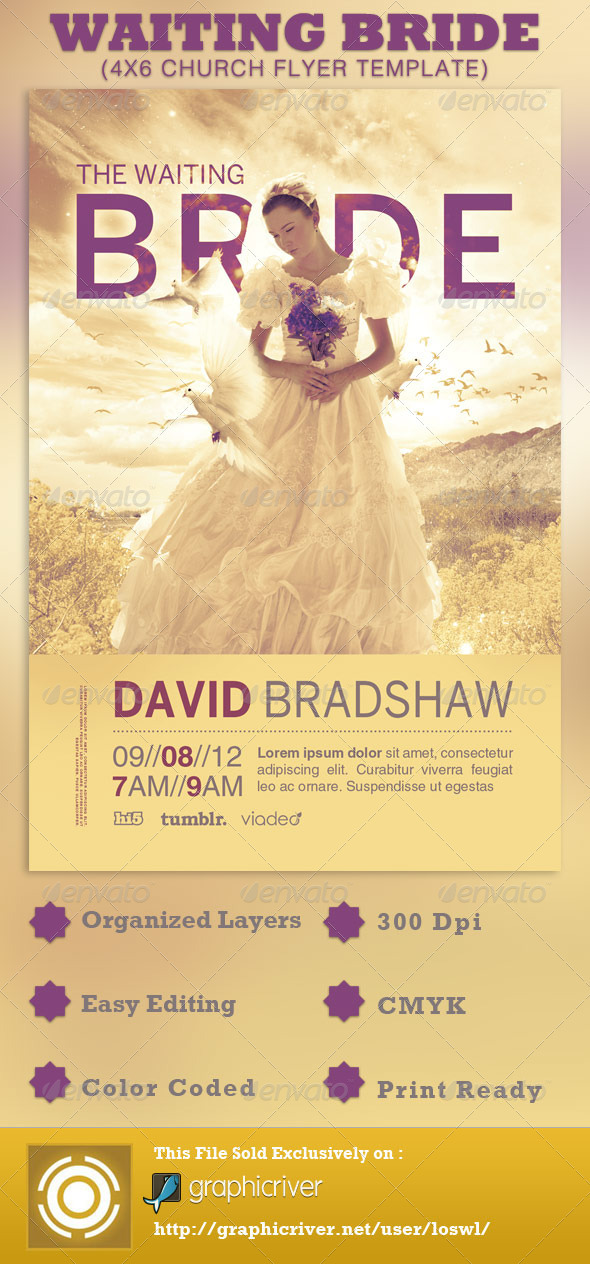 The Waiting Bride Church Flyer Template By Loswl  Graphicriver