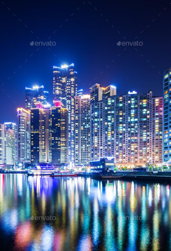 Busan city at night - Stock Photo - Images