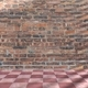 Terracotta floor tiles red pink color and brickwall background - PhotoDune Item for Sale