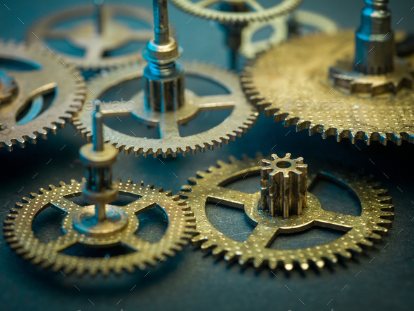 Gears and cogs clock - Stock Photo - Images