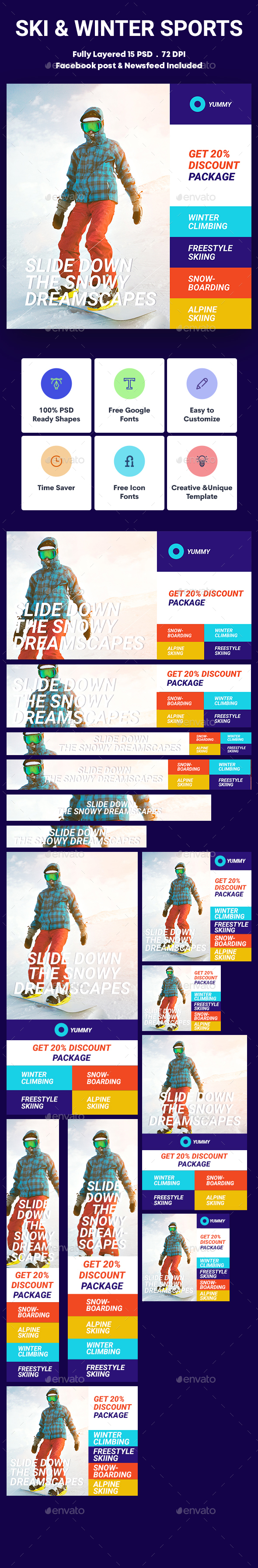 Ski & Winter Sports Banners Ad