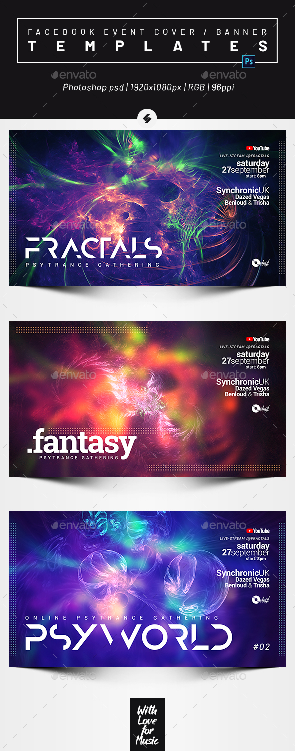 Electronic Music Session 42 – Facebook Event Cover Templates