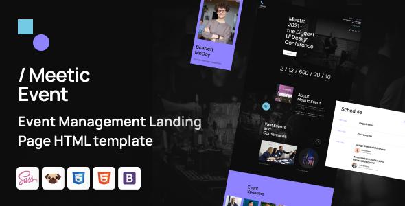Super Meetic - Event Management HTML5 Template