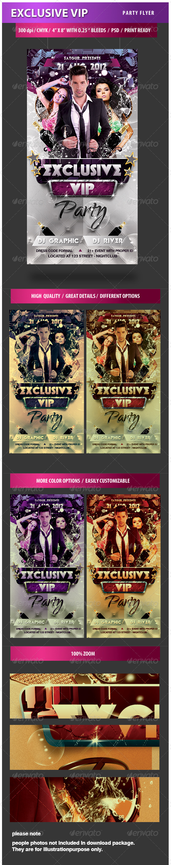 Exclusive VIP Party Flyer - Clubs & Parties Events