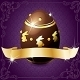 Elegant Banner With Chocolate Egg in Purple & Gold - GraphicRiver Item for Sale