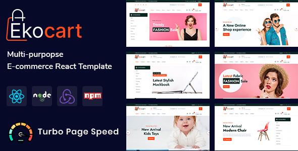 Awesome Ekocart- Multi-purpose E-commerce React Template