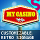 Customizable Retro Signs - GraphicRiver Item for Sale
