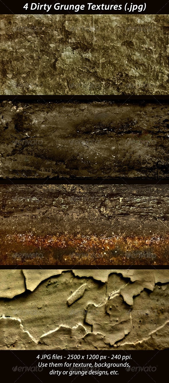 4 Grunge Textures - Industrial / Grunge Textures