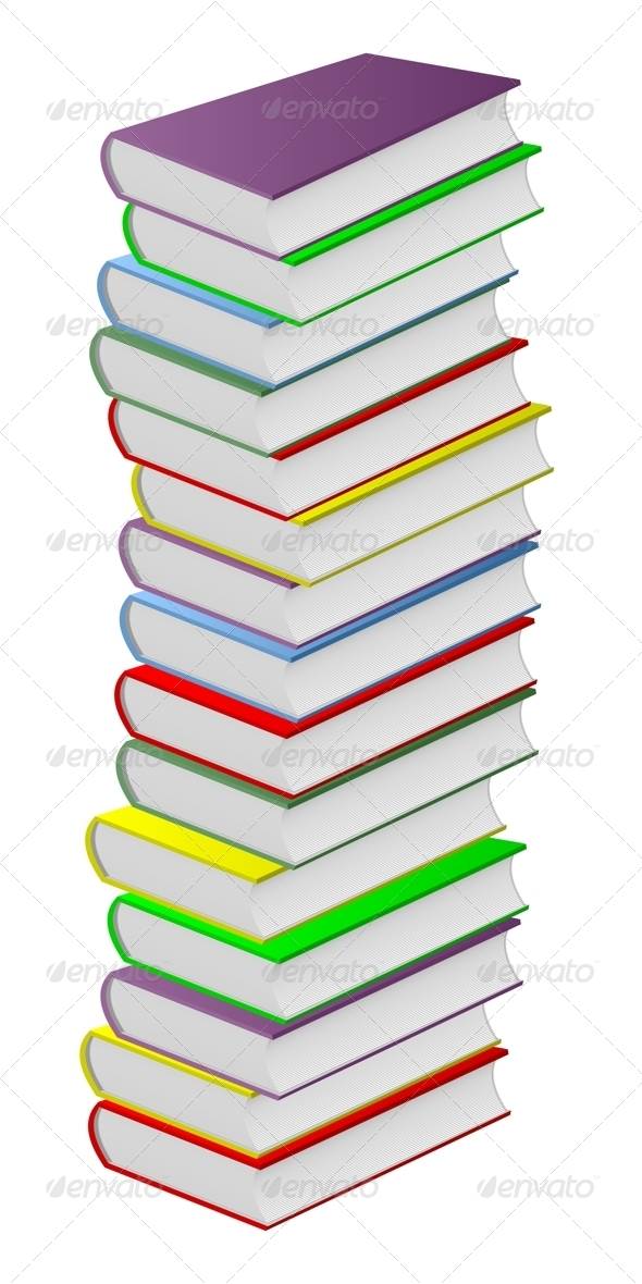 Multicolored books. - Objects Vectors