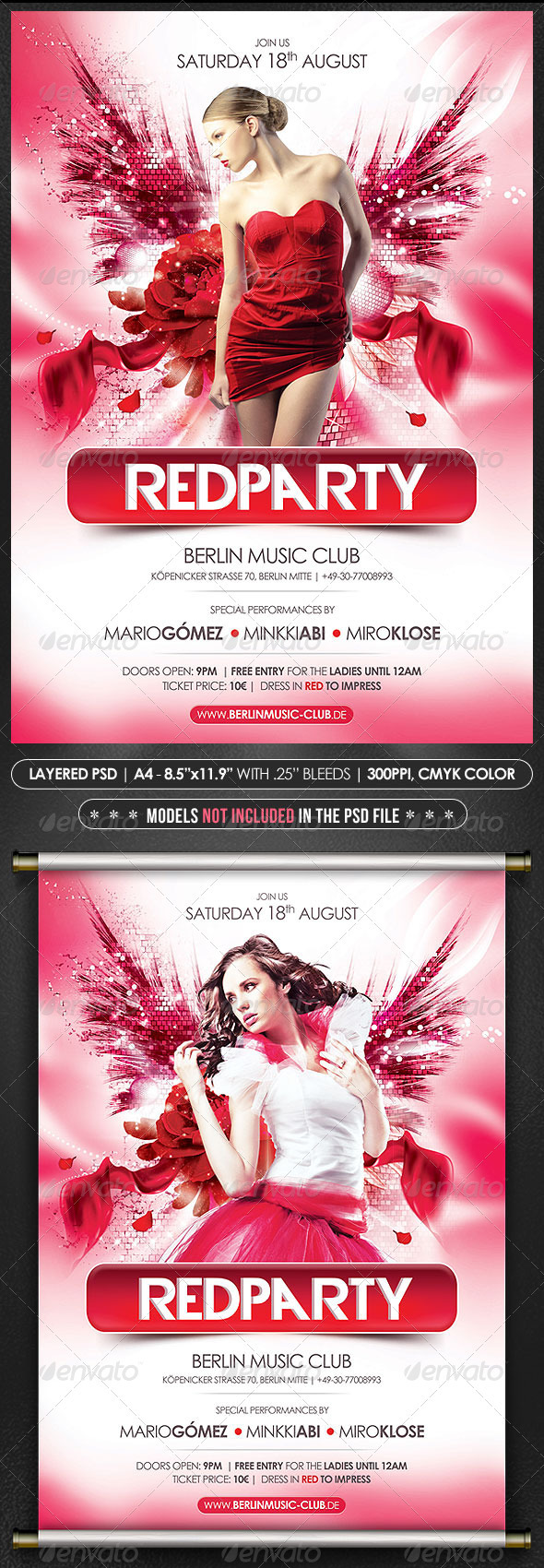 Red Party Poster/Flyer - Events Flyers