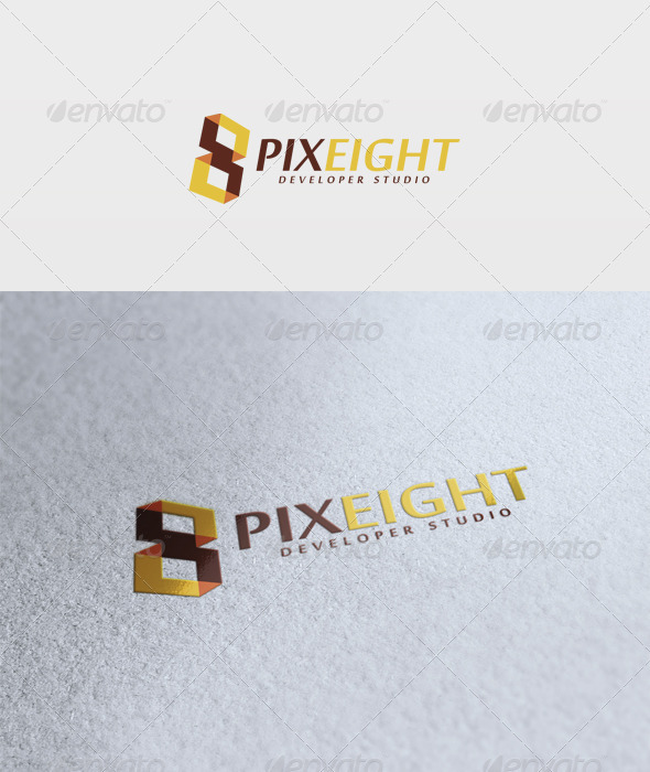 Pixel Eight Logo - Numbers Logo Templates