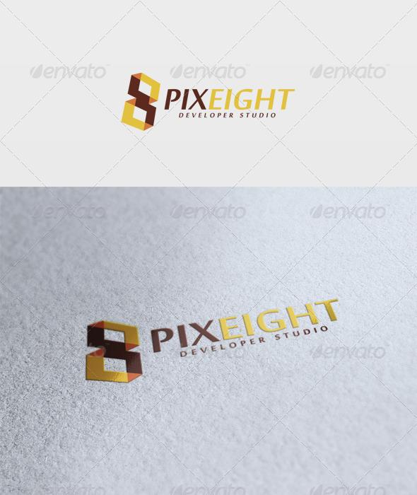Pixel Eight Logo - Numbers Logo Templates