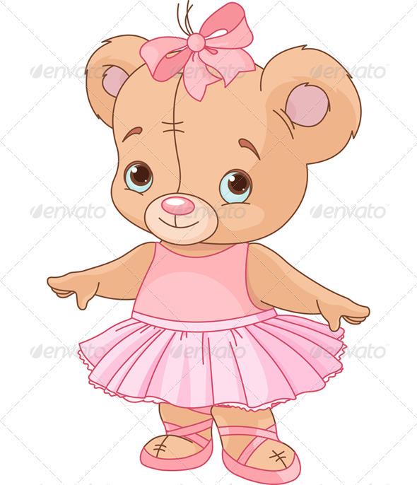 Cute Teddy Bear Ballerina - Animals Characters