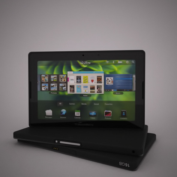 Realistic Blackberry Playbook Model for Vray. - 3DOcean Item for Sale