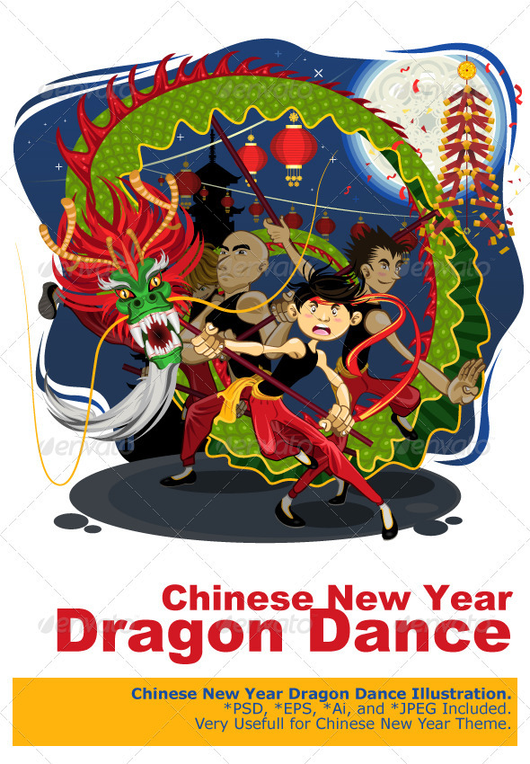 Chinese New Year Dragon Dance - Miscellaneous Seasons/Holidays