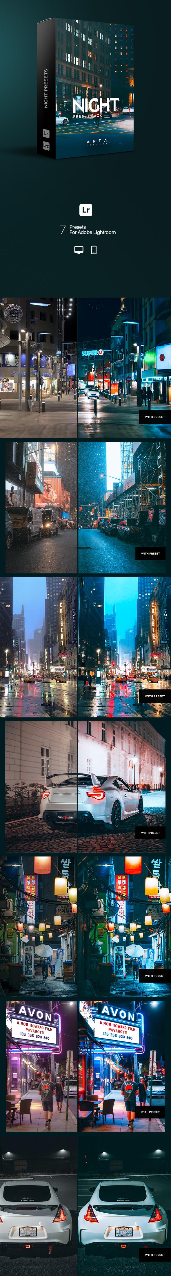 ARTA Presets | Night | For Mobile and Desktop Lightroom