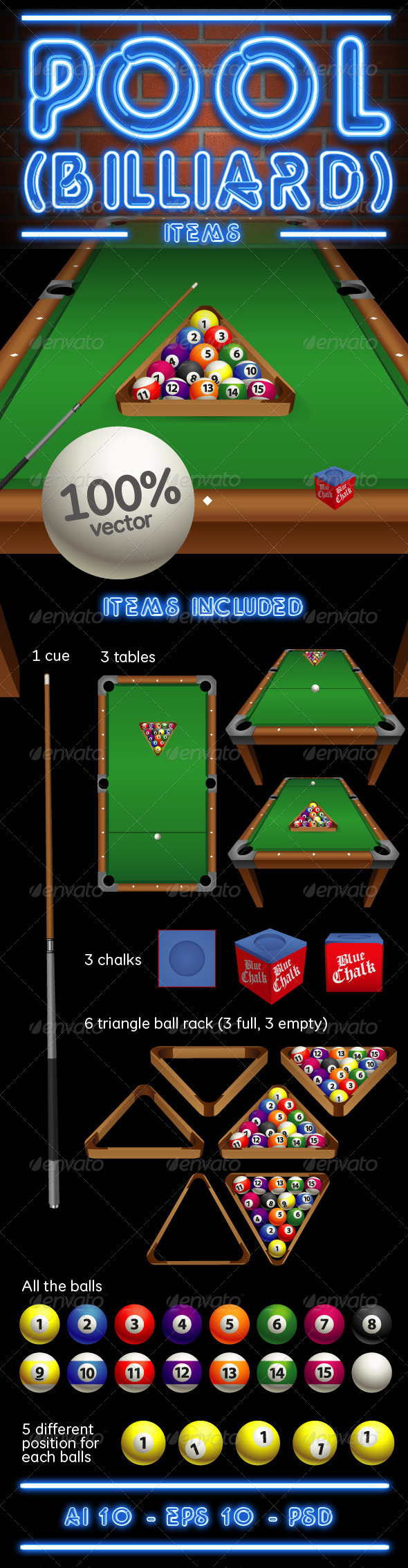 Pool - Billiard items - Man-made Objects Objects