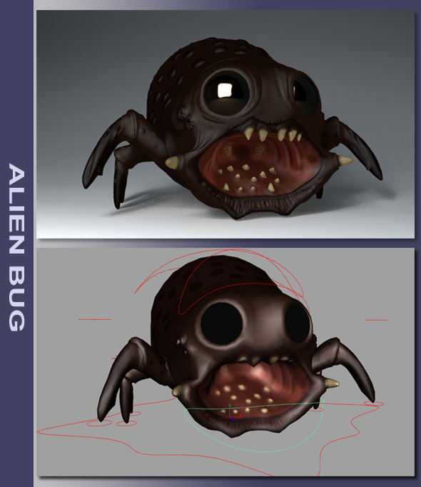 Alien Bug - 3DOcean Item for Sale