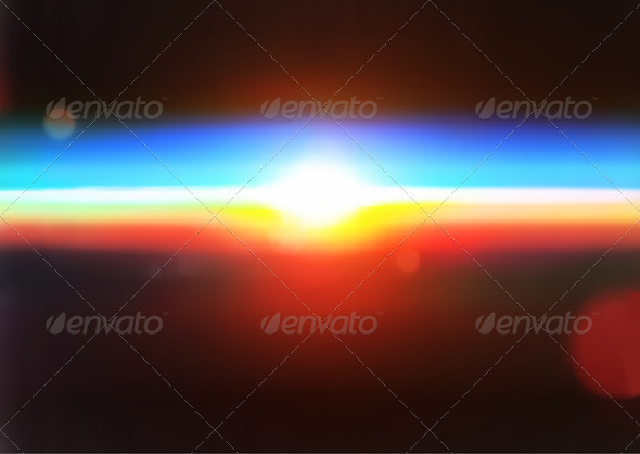 Sun on the horizon. - Backgrounds Decorative