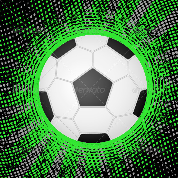 Abstract soccer background - Sports/Activity Conceptual