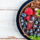 Homemade Chocolate Tart with Blueberries and Raspberries - PhotoDune Item for Sale