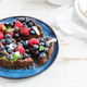 Homemade Chocolate Tart with Blueberries and Raspberries - PhotoDune Item for Sale